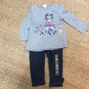 Gymboree Jeggings and LS top playset